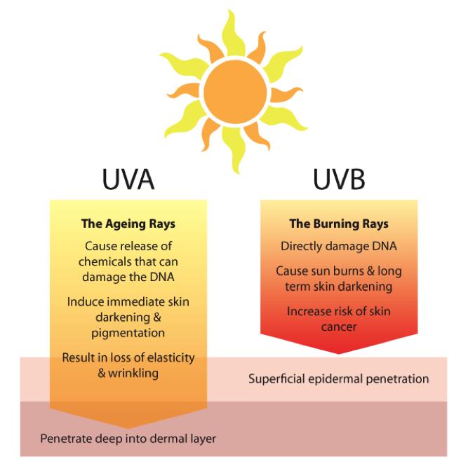Sunblock UVB vs UVA